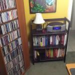 3 Monkey Lamp on Bookshelf 2