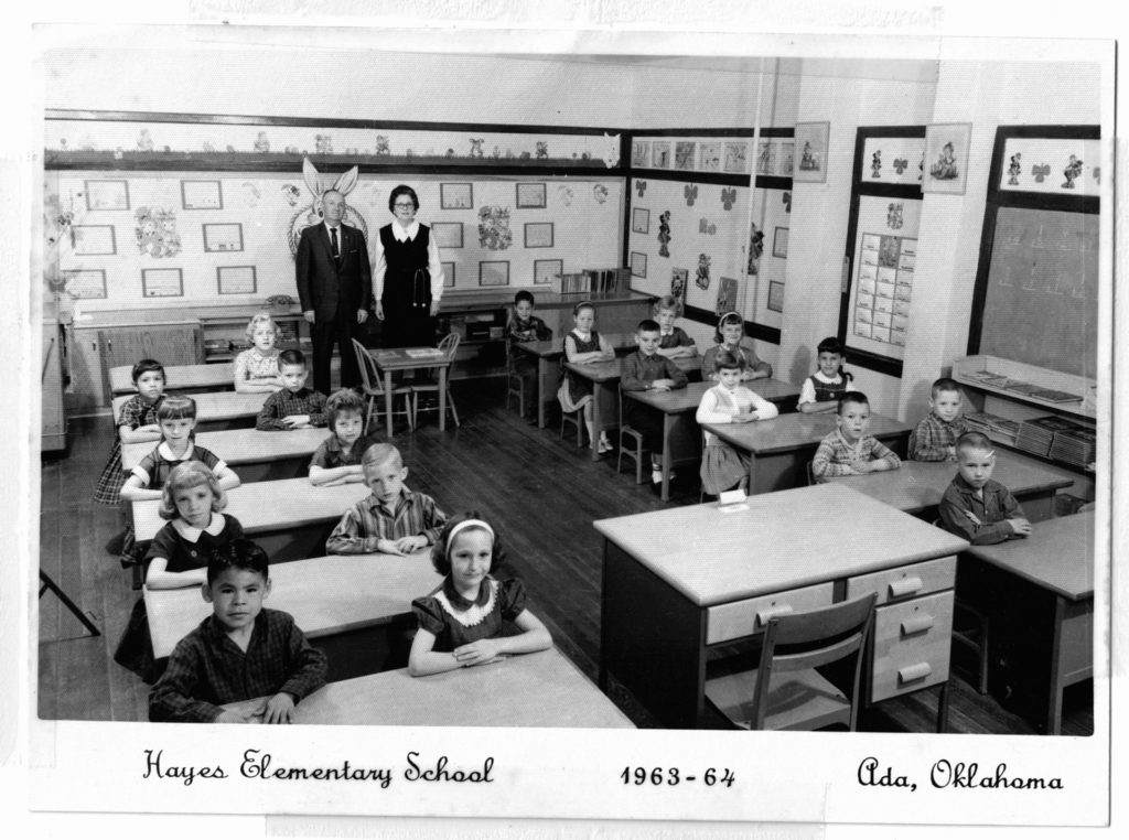 First Grade In 1963 At Hayes Elementary School In Ada, Oklahoma