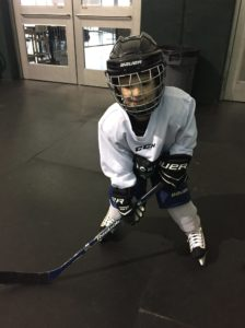 Easton Cantrell begins his ice hockey career